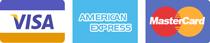 Płatność kartą kredytową : Visa, Master Card, American Express